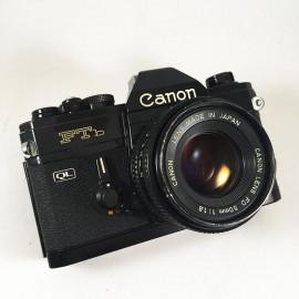 canon FTb QL reflex analog 135mm 35mm 50mm 1.8 fd black mechanic