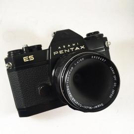 pentax ES noir pentax asahi electronic smc macro takumar 50mm f4 4 reflex argentique ancien asahi 35mm 135 appareil photo