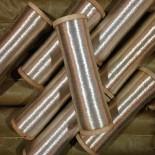 bobine fil métallique argenté mercerie militaire ancien vintage 1920