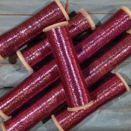 bobine fil métallique violet ancien vintage mercerie militaire 1920