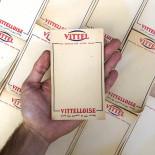advertising vittel vittelloise bar café coffee water french bill note scratch pad vintage 1960