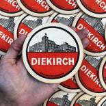 diekirch luxembourg beer alcool aperitif coaster antique vintage cardboard bar 1960