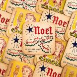 Carolo Pils Triple Christmas beer alcool aperitif coaster antique vintage cardboard bar 1960