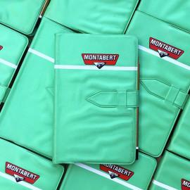 carnet ecriture agenda ancien vintage vert usine industriel 1980 1984 montabert crayon