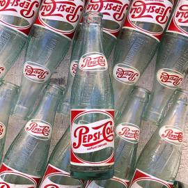 bouteille pepsi pepsi-cola cola ancienne bar bistrot brasserie ancien vintage verre 1950
