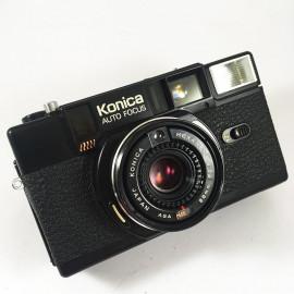 konica c35 af 2 black 38mm 2.8 compact point and shoot vintage flash autofocus analog camera