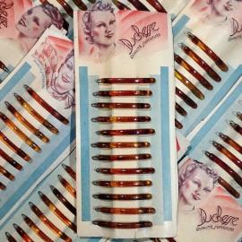 carte barrettes plastique oyonnax duchesse qualité supérieure cheveux mercerie vintage 1950