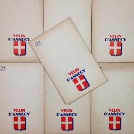 bloc notes papier velin annecy ancien vintage papeterie 1950