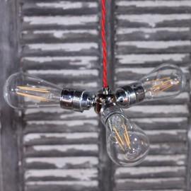 diviseur nickel argent droite trois électricité douille norme européenne ampoule quincaillerie 90 degré