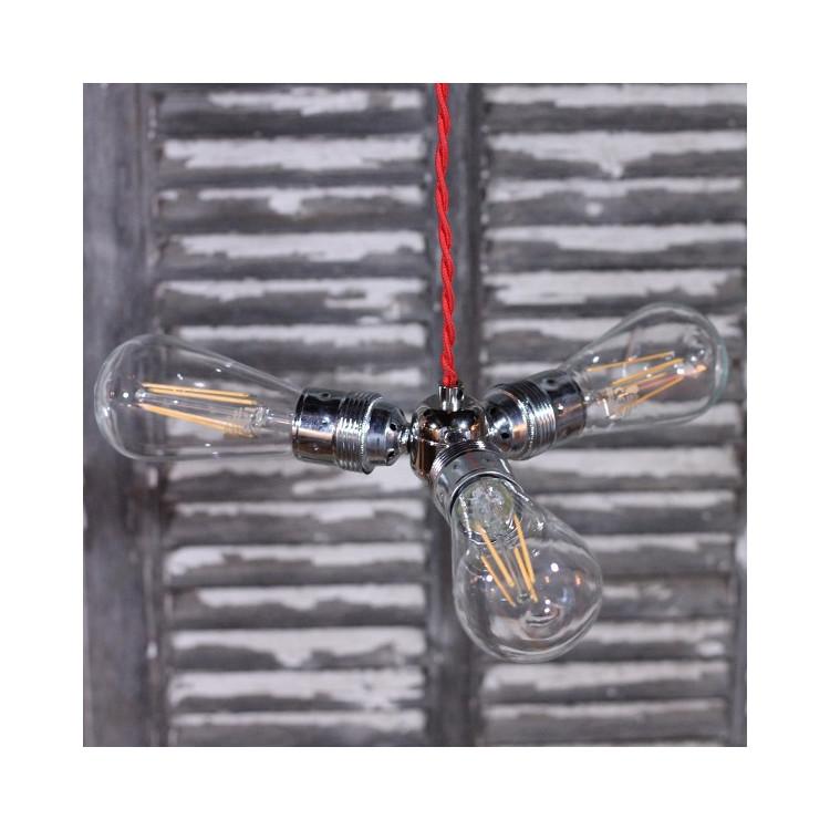 divider electricity nickel silver lightning light e27 90 degree metallic 3 splitter sockets vintage electric