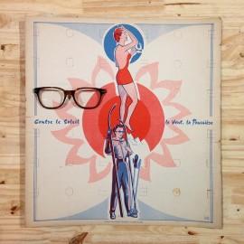 présentoir lunettes carton ancien vintage lunetier 1960 opticien