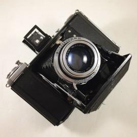 zeiss ikon ikonta b 521/16 tessar 75mm 3,5 argentique ancien 120 moyen format 6x6 soufflet photographie