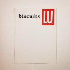 affichette réclame prix biscuits lu ancien vintage ancienne épicerie 1960 papier affiche