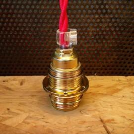 douille laiton E14 avec ailettes bague de serrage petit culot petite ampoule