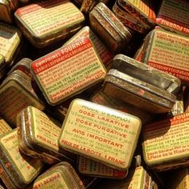 boite de laxatifs ancienne vintage 1930 art deco lyon pharmacie