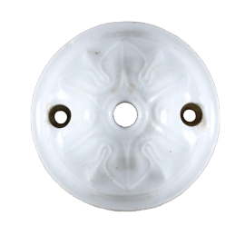 ceiling rose ceramic china 65mm 6,5cm wire hide wall art deco antique