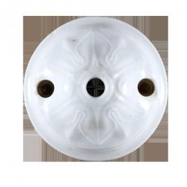 rosace céramique électricité mur plafond ancien vintage quincaillerie accessoire e27 65mm 6,5cm
