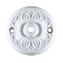ceiling rose ceramic china 60mm 6cm wire hide wall art deco antique