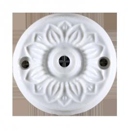 rosace céramique électricité mur plafond ancien vintage quincaillerie accessoire e27 60mm 6cm