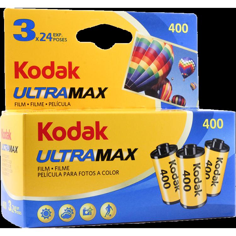 pack 3 kodak ultramax 400 35mm 135 pellicule argentique film