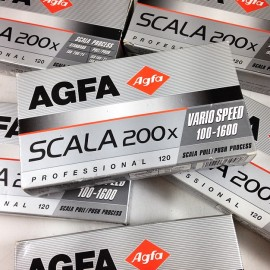 Pack 5 Agfa scala 200x slide black and white 120 analog camera photo 2004