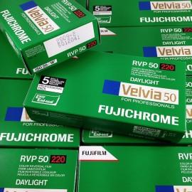 pack 5 velvia 50 fujifilm fuji diapo color diapositive slide film expired 2009 220 120