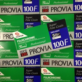 pack 5 provia 100f fujifilm fuji diapo color diapositive slide film expired 2009 220 120