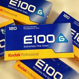 pack 5 ektachrome kodak e100 g diapo positif pellicule 120 argentique moyen format e6 photographie 2009 périmé