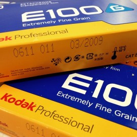 kodak ektachrome 120 e100 g positive slide reversal film pack 5 analog camera photo 2009 expired