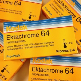 kodak ektachrome 120 64 positive slide reversal film pack 5 analog camera photo 1997 expired
