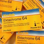 pack 5 ektachrome kodak 64 diapo positif pellicule 120 argentique moyen format e6 photographie 1997 périmé