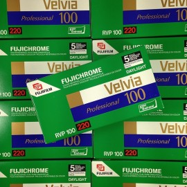 pack 5 velvia 100 fujifilm fuji diapo color diapositive slide film expired 2008 220
