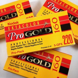 pack 5 kodak ektacolor pro gold 160 220 medium camera analog expired 1999 120