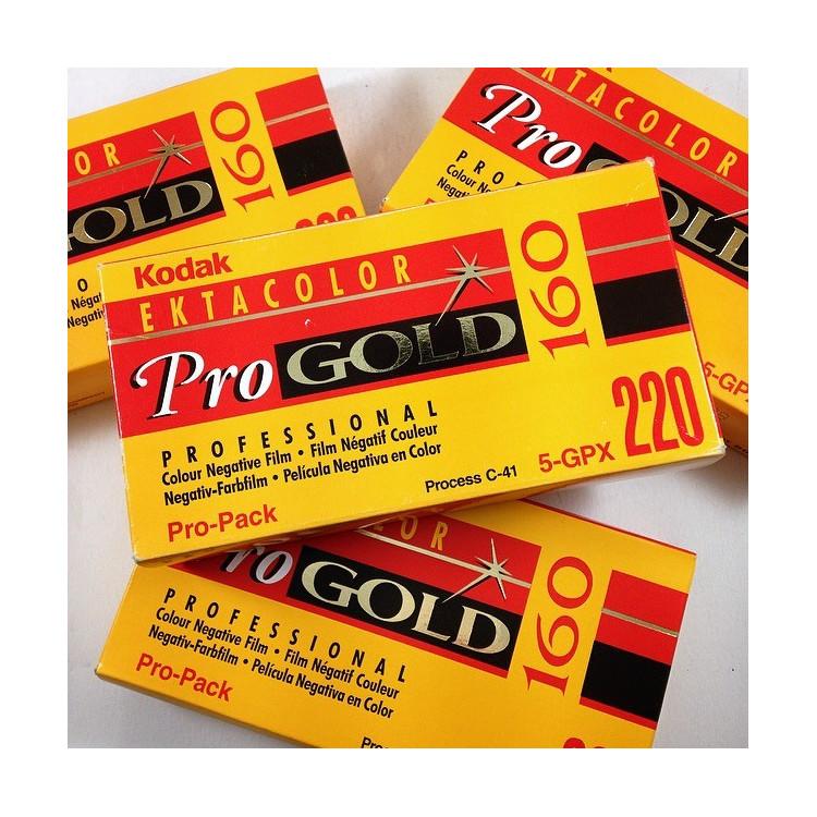 pellicule 220 kodak ektacolor pro gold 160 couleur négatif argentique 1999