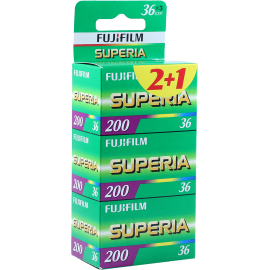 pack 3 fujifilm superia 200 35mm