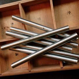 tige filetée m10 creuse creux métal tube électrique passage de cable acier luminaire lampe 128mm