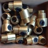 serre-câble M10 filetage laiton laitonnée doré or métal électrique électricité