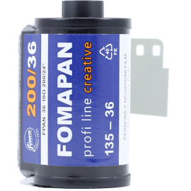 fomapan creative 200 35mm 135 black and white film
