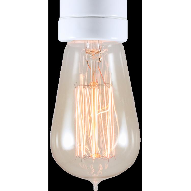 ampoule filament carbone e27 électricité quincaillerie lampe 1910 30w