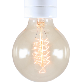 light lightbulb carbon filament electricity e27 spiral 30w