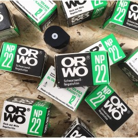 expired film vintage analog 1985 orwo NP22 black and white 125 ISO film kassette 35mm