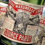 carton publicitaire bouteille pub source parot boisson bistrot bar vintage imprimerie 1930