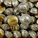 bouton métallique vintage ancien crs france laiton 15mm