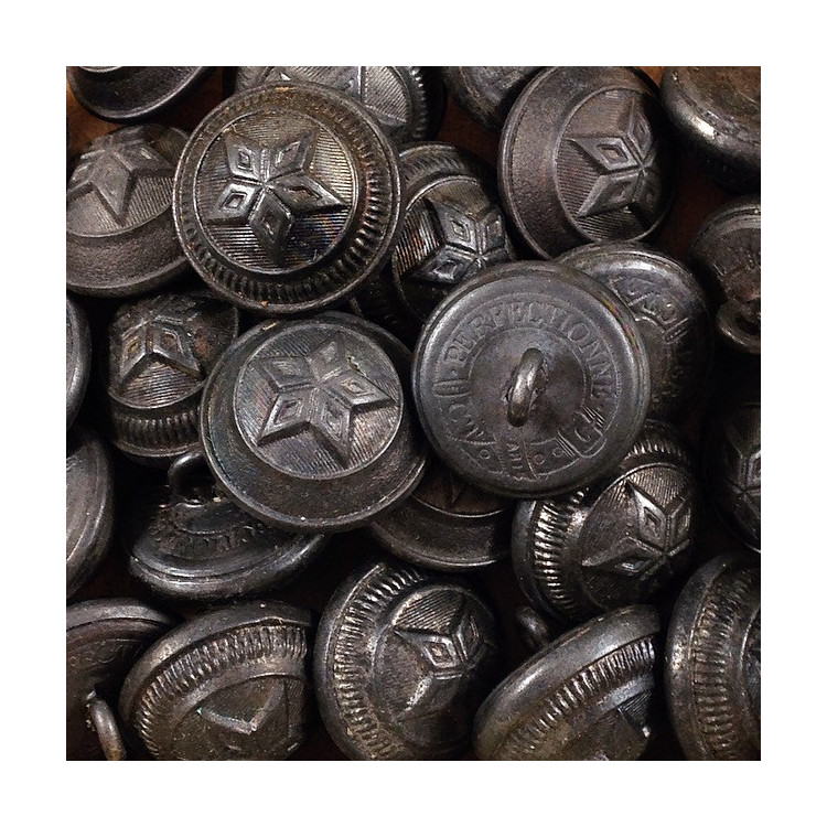 bouton intendance militaire étain armée ancien vintage métallique mercerie 1900 19mm