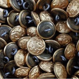 petit bouton police nationale laiton ancien vintage mercerie militaire 1930 10mm