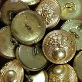 bouton laiton ancien militaire gendarmerie nationale mercerie vintage 1930 25mm