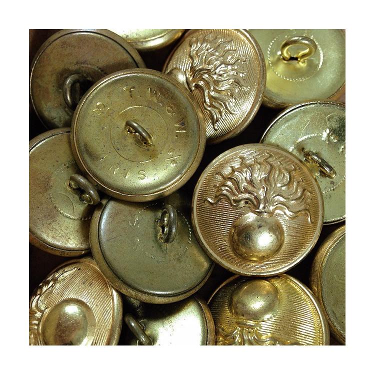 french gendarmerie nationale button brass antique vintage military haberdashery 25mm 1930