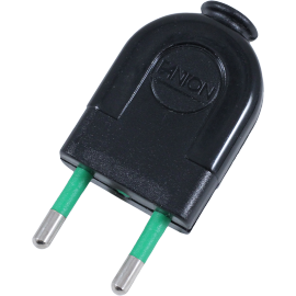 black plug in electric electricity male plastic little 2 conductors