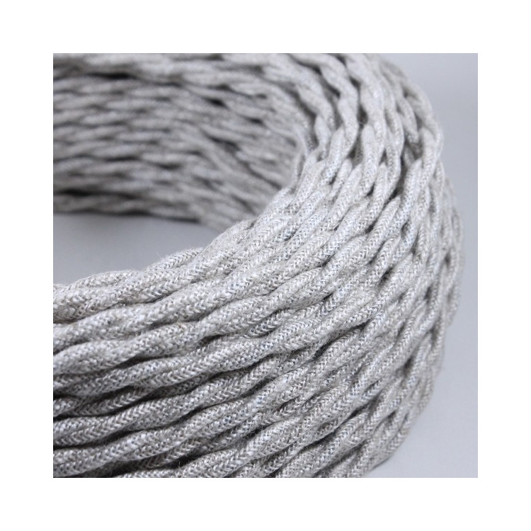 electric wire textile fabric electricity vintage decoration lamps lightning canvas twisted