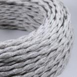 cable electrique fil textile vintage tissu chanvre torsadé